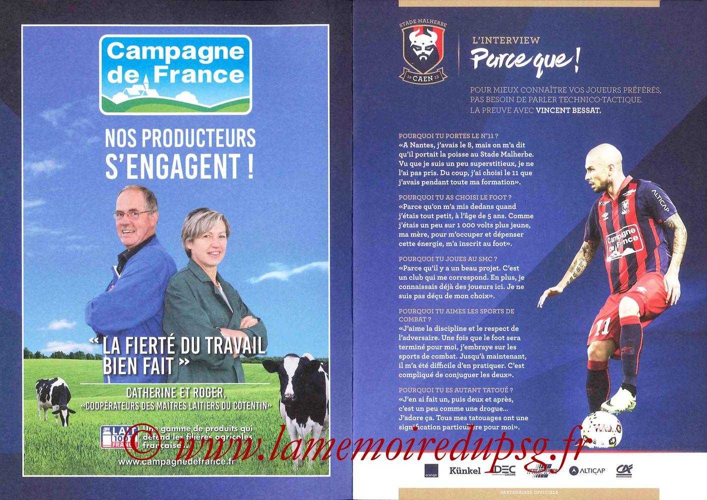 2016-09-16  Caen-PSG (5ème L1, Programme officiel) - Pages 02 et 03