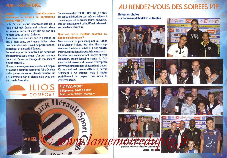2017-09-23  Montpellier-PSG (7ème L1, L'Echo de la Mosson N°4) - Pages 30 et 31