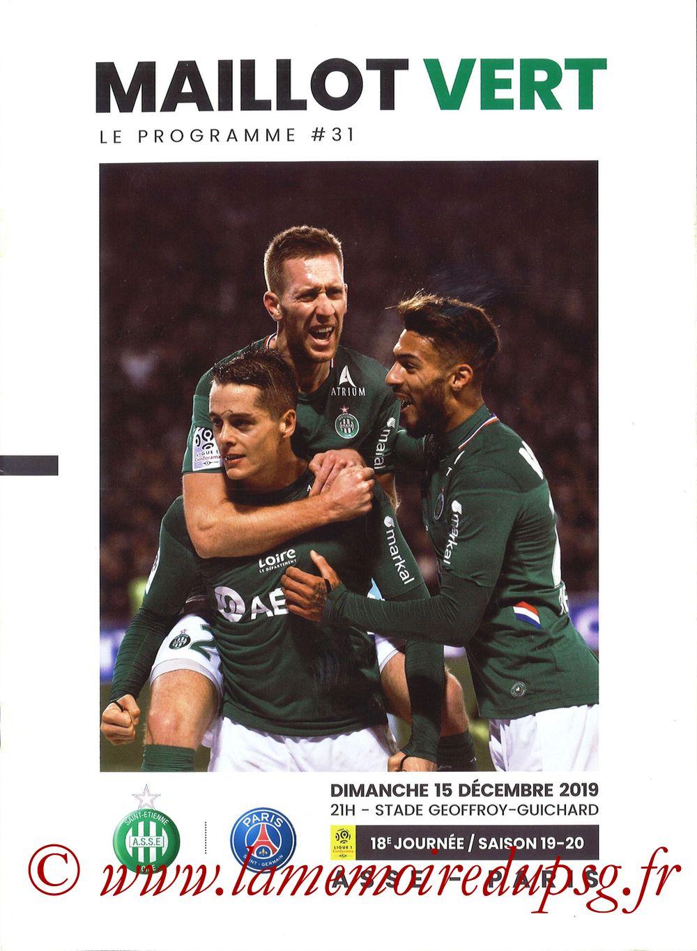 2019-12-15  Saint-Etienne (18ème L1, Maillot Vert N°31)