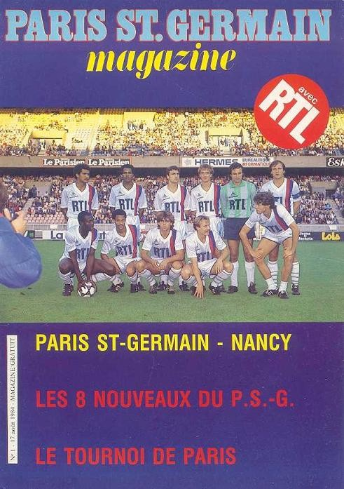 1984-08-17  PSG-Nancy (1ère D1, Paris SG Magazine N°1)