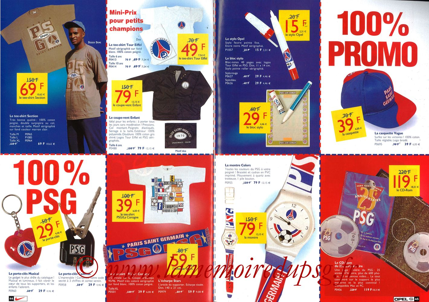 Catalogue PSG - 1998-99 - Pages 44 et 45