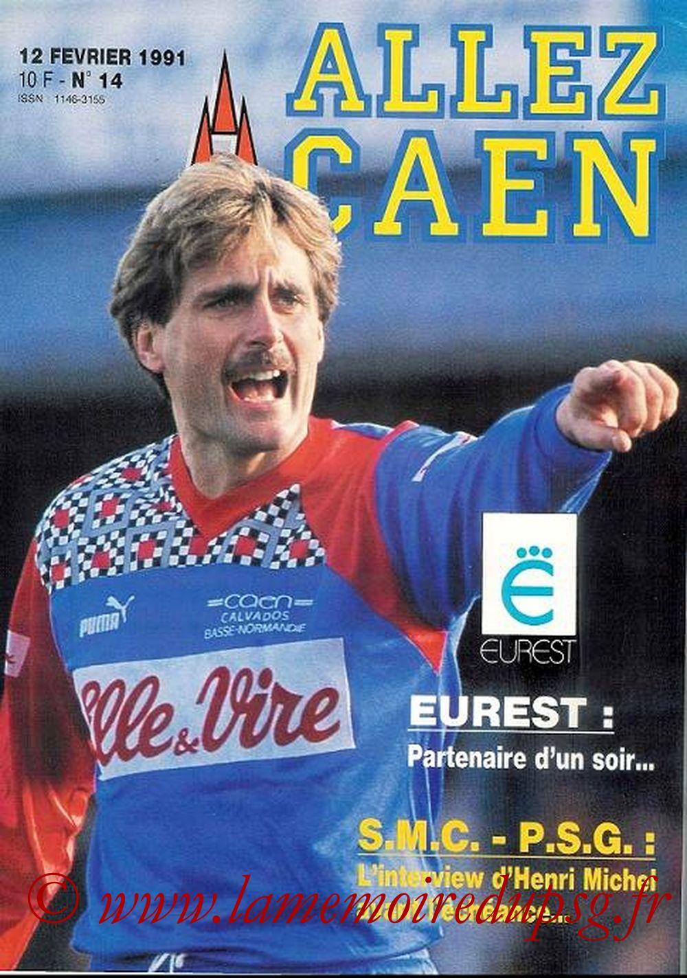 1991-02-13  Caen-PSG (27ème D1, Allez Caen N° 14, Collection LG)