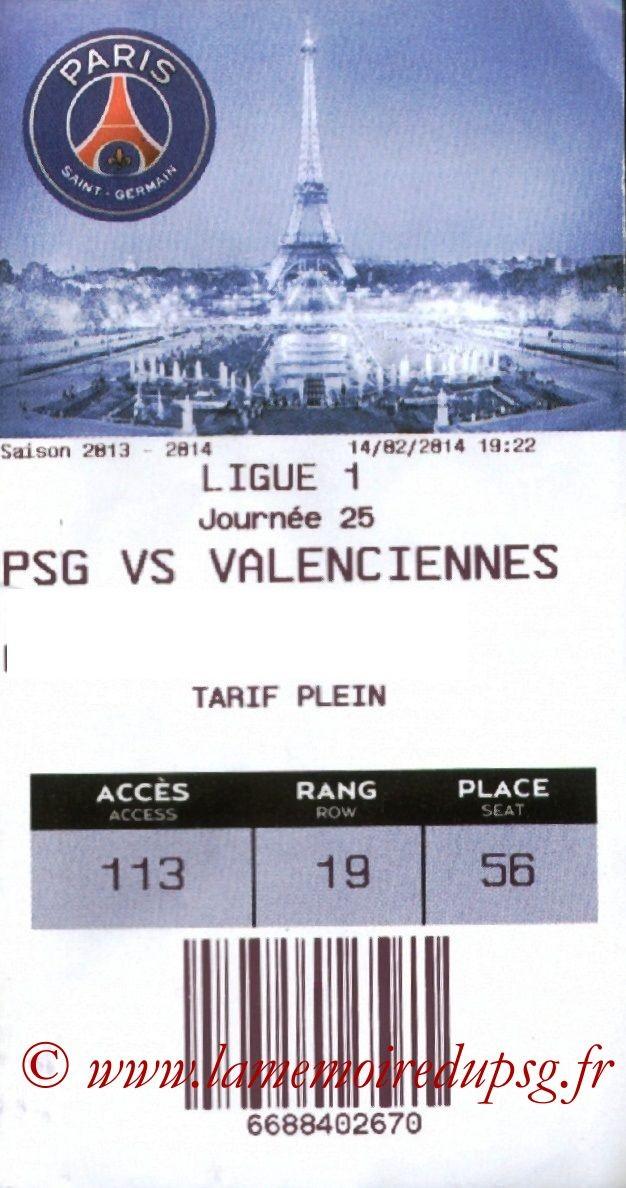 2014-02-14  PSG-Valenciennes (25ème L1, E-ticket)
