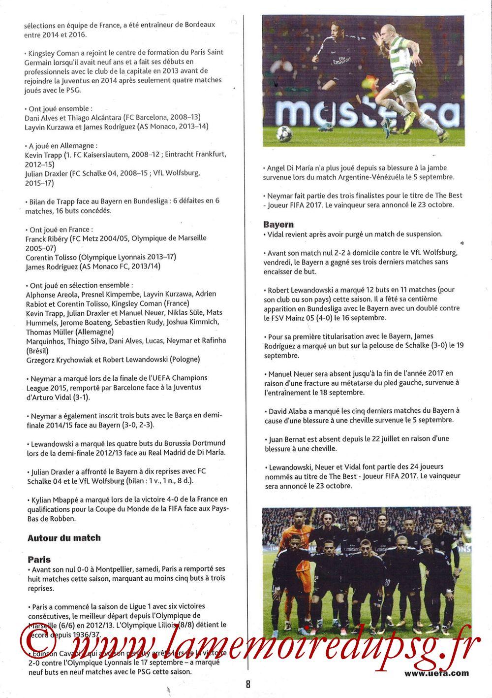 2017-09-27  PSG-Bayern Munich (2ème Poule C1, Programme pirate) - Page 08