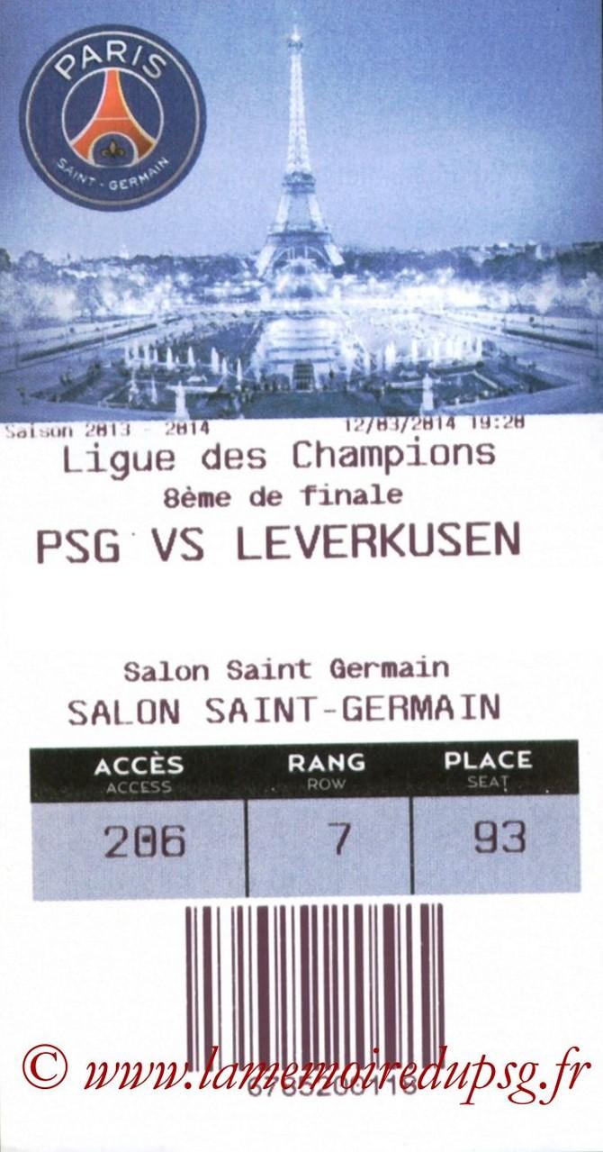 2014-03-12  PSG-Bayer Leverkusen (8ème finale Retour C1, E-ticket)
