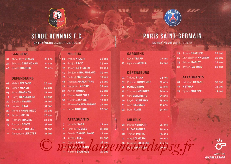 2018-01-30  Rennes-PSG (Demi CL, Programme Officiel) - Pages 04 et 05