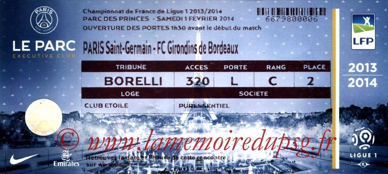 2014-01-31  PSG-Bordeaux (23ème L1, Loge)