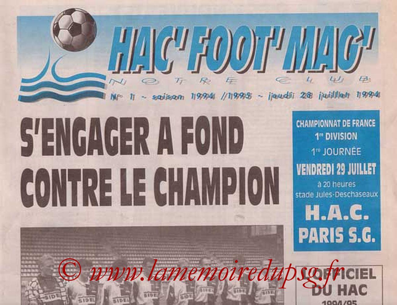1994-07-29  Le Havre-PSG (1ère D1, Que je n'ai pas)