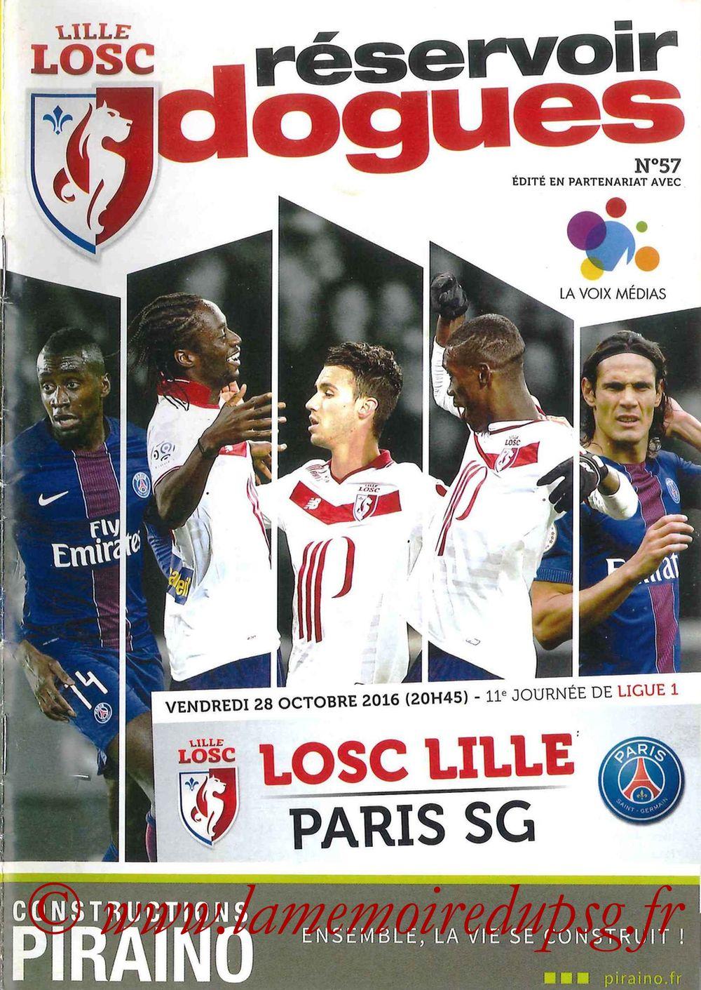 2016-10-28  Lille-PSG (11ème L1, Réservoir Dogues N°57)