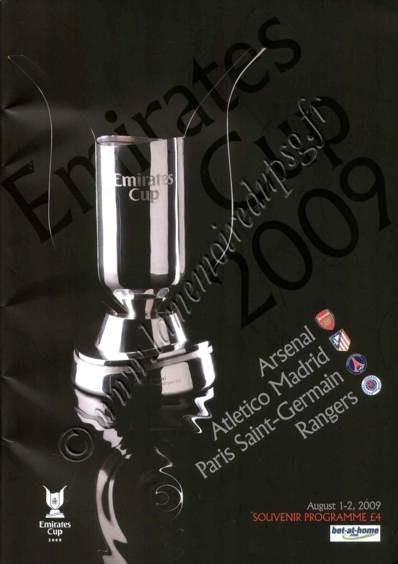 2009-08-01et 02  Rangers-PSG et Atletico Madrid-PSG (Emirates Cup)