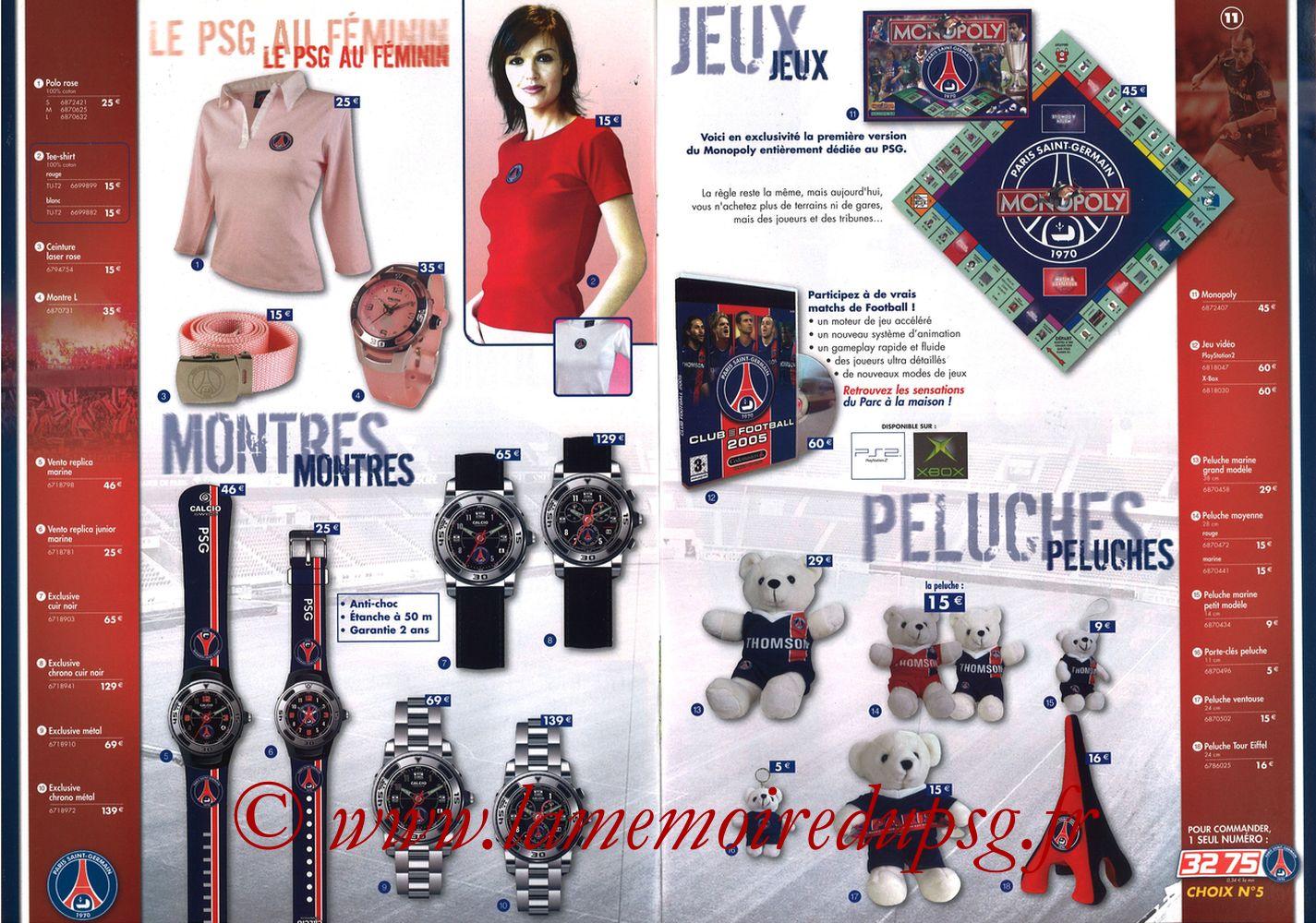 Catalogue PSG - 2004-05 - Pages 06 et 07
