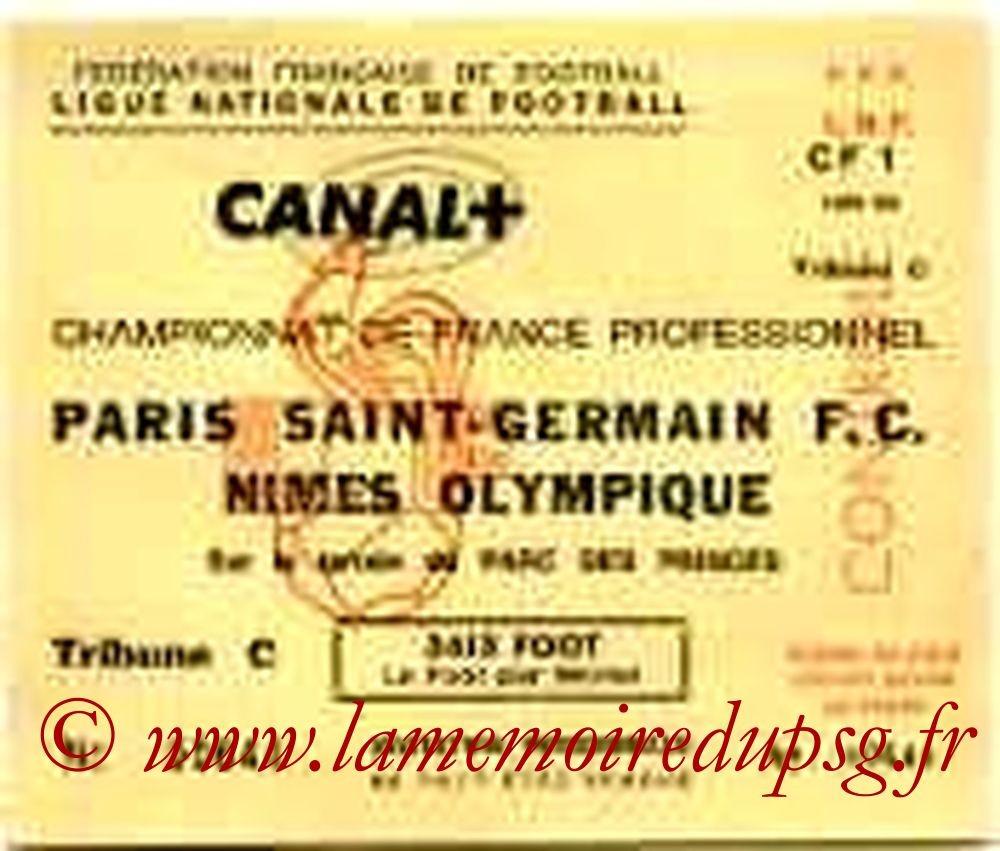 1991-10-26  PSG-Nimes (15e D1,Invitation LNF)