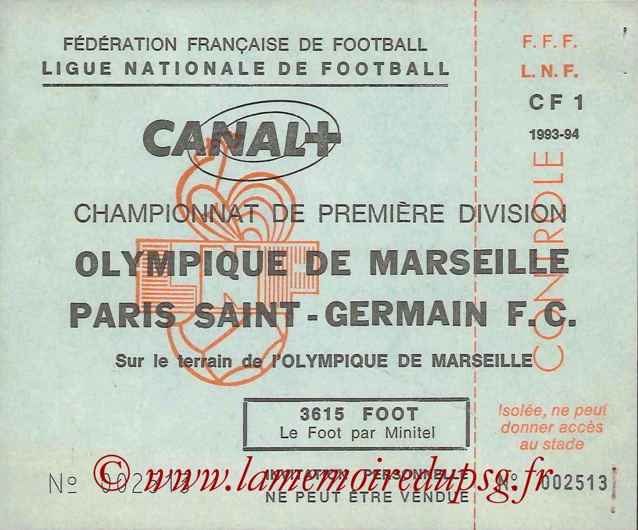 1993-08-15  Marseille-PSG (5ème D1, Invitation LNF)