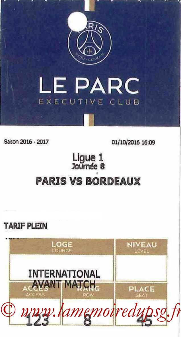 2016-10-01  PSG-Bordeaux (8ème L1, E-ticket Executive club)