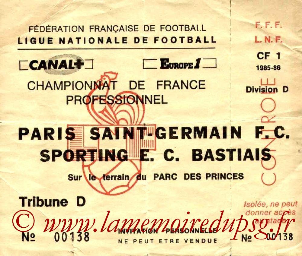 1986-04-25  PSG-Bastia (38ème D1, Invitation)