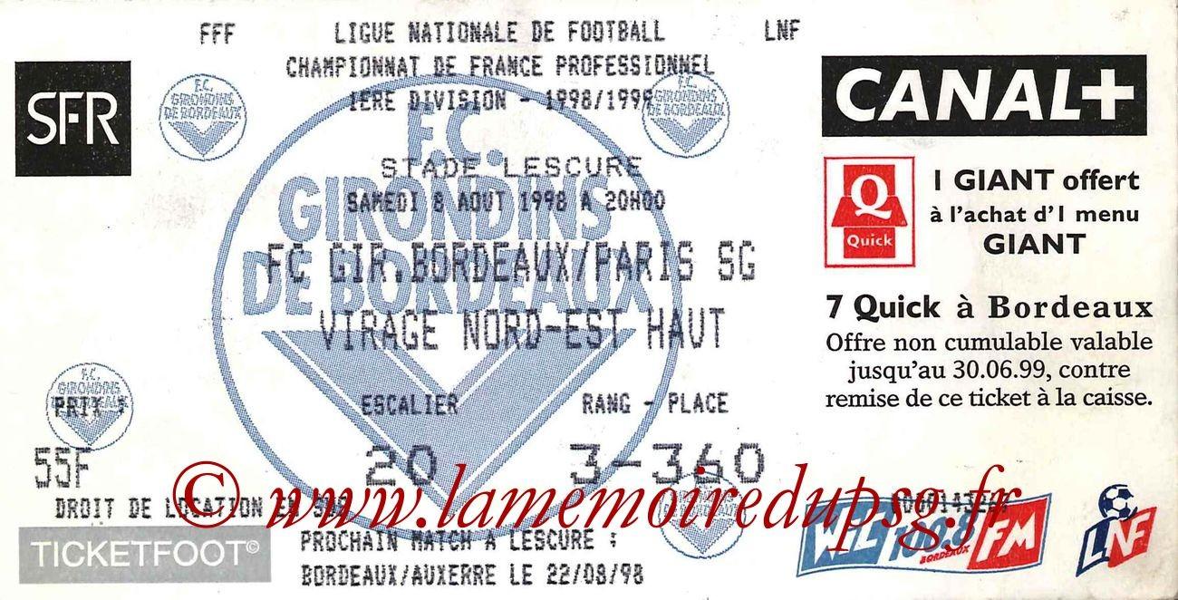 1998-08-08  Bordeaux-PSG (1ère D1)