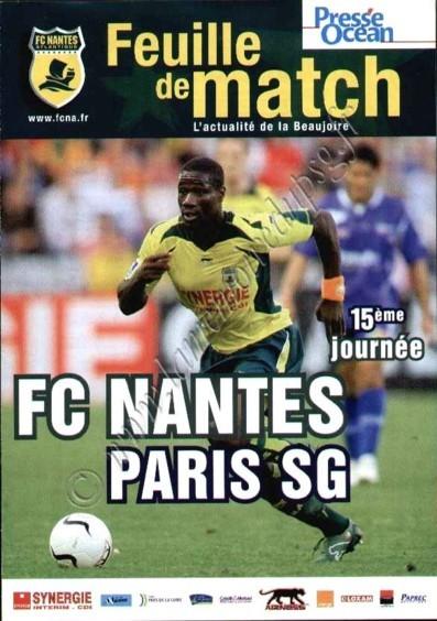 2006-11-26  Nantes-PSG (15ème L1, Feuille de match)