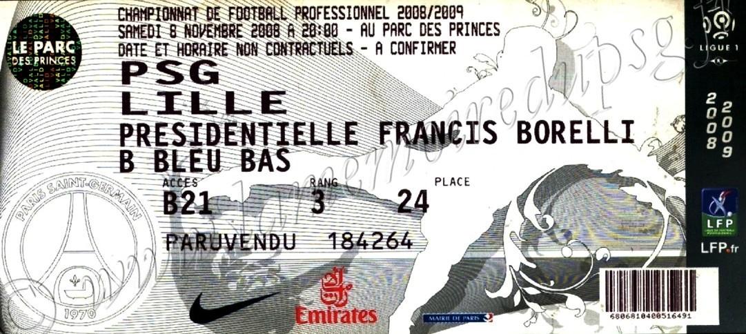 2008-11-09  PSG-Lille (13ème L1, bis)
