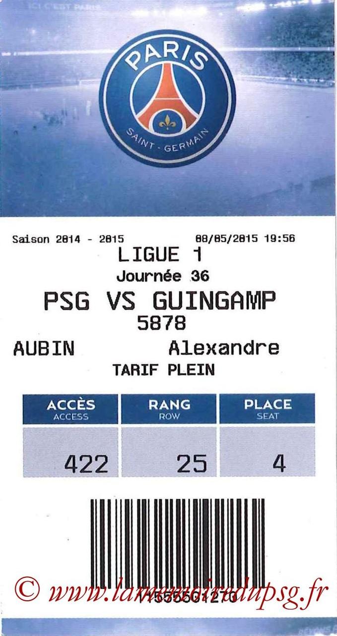 2015-05-08  PSG-Guingamp (36ème L1, E-ticket)