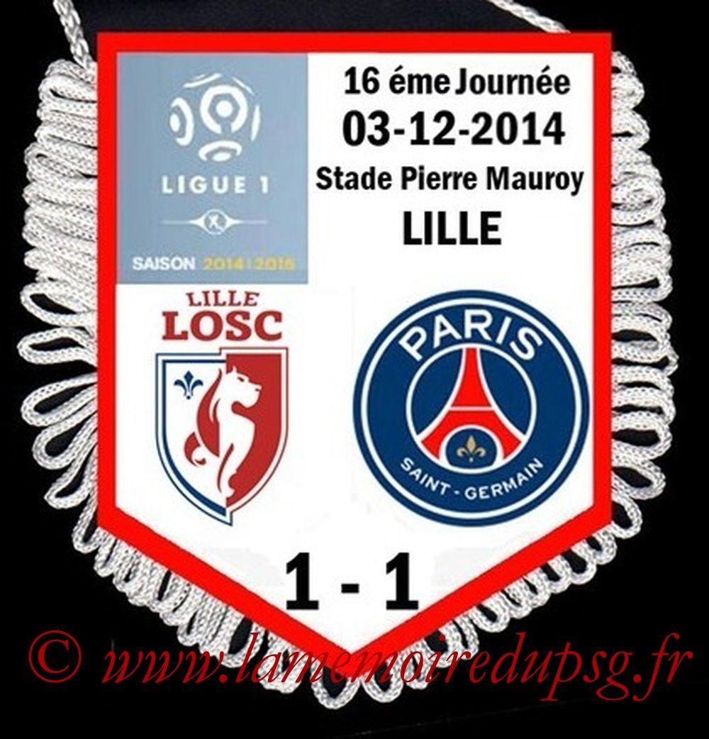 2014-12-03  Lille-PSG (16ème L1)