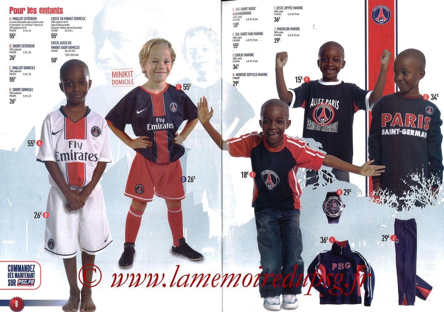 Catalogue PSG - 2007-08 - Pages 06 et 07