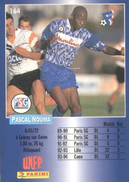 N° 164 - Pascal NOUMA (Verso)