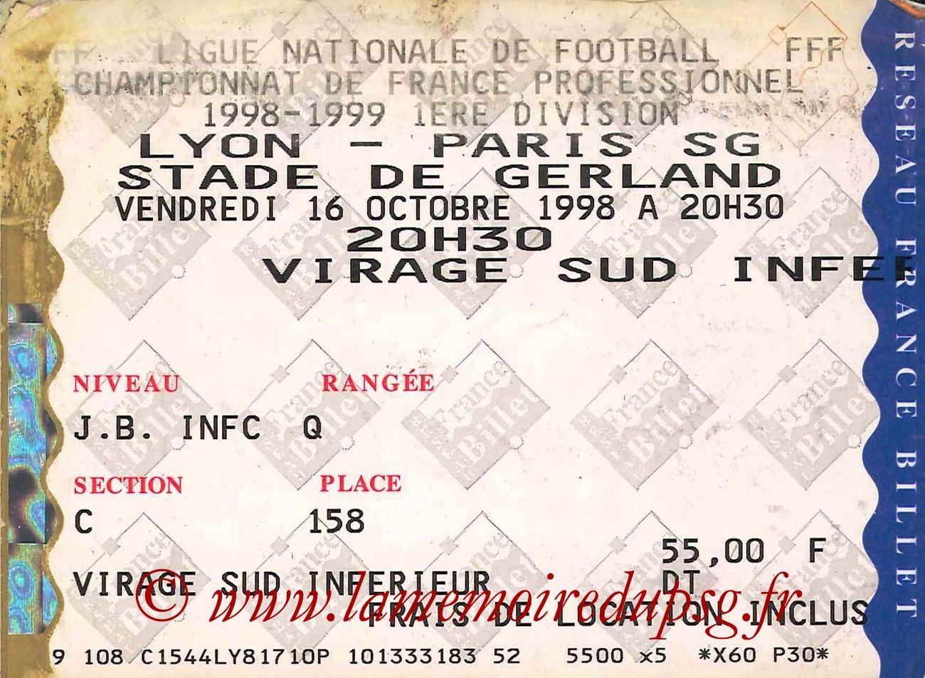 1998-10-16  Lyon-PSG (9ème D1)