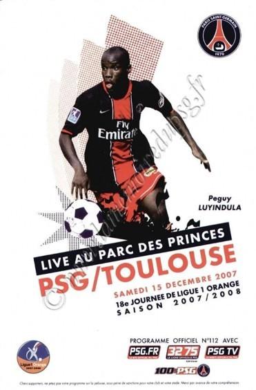 2007-12-15  PSG-Toulouse (18ème L1, Officiel PSG N°112)
