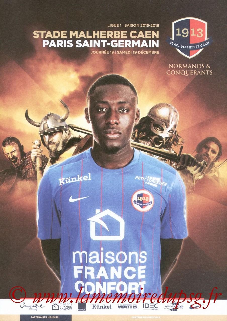 2015-12-19  Caen-PSG (19ème L1, Programme officiel)