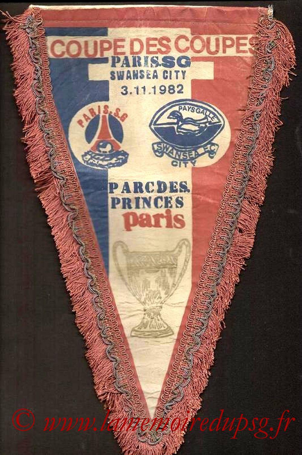 Grands Fanions  PSG-Swansea  1982-83