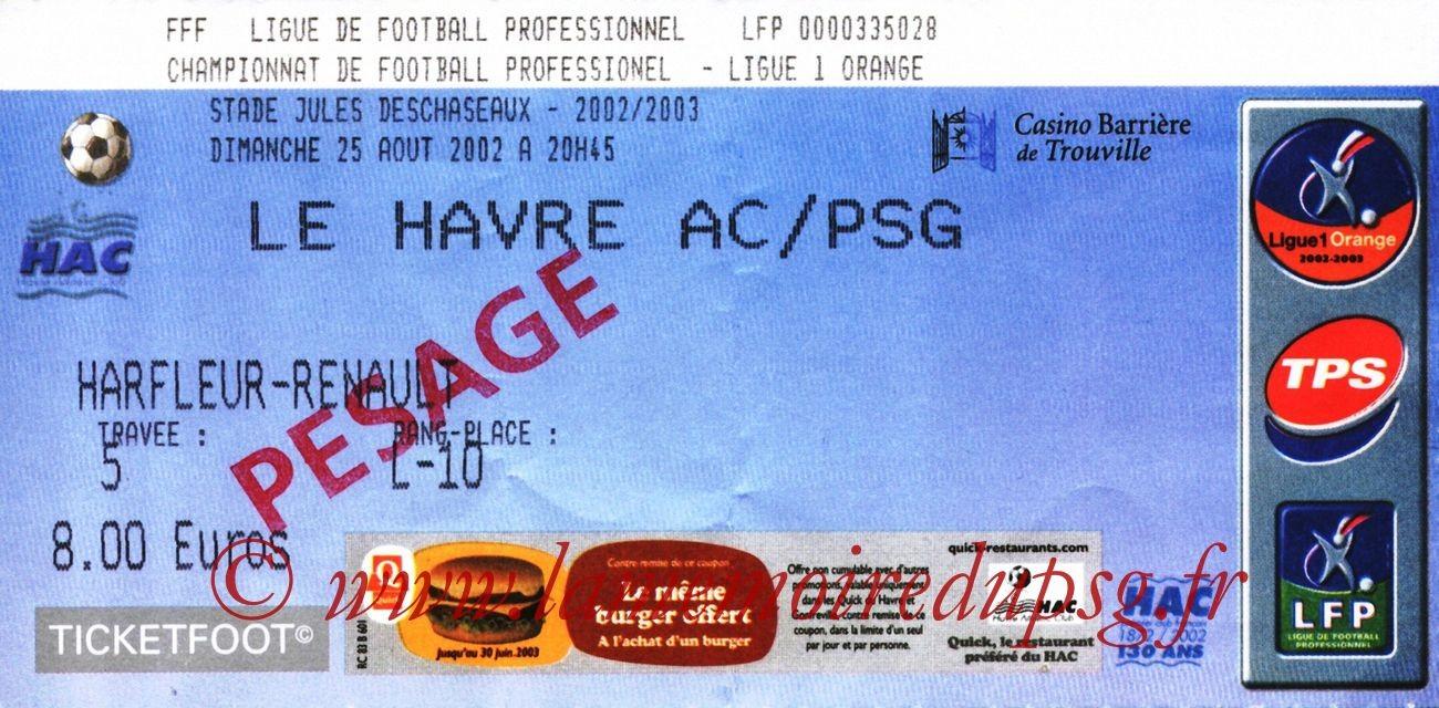 2002-08-25  Le Havre-PSG (4ème L1, bis)