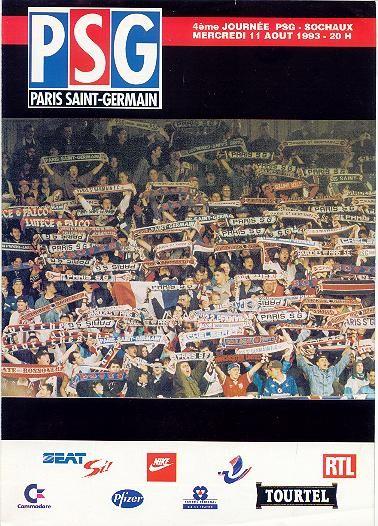 1993-08-11  PSG-Sochaux (4ème D1, PSG Magazine N° HS)