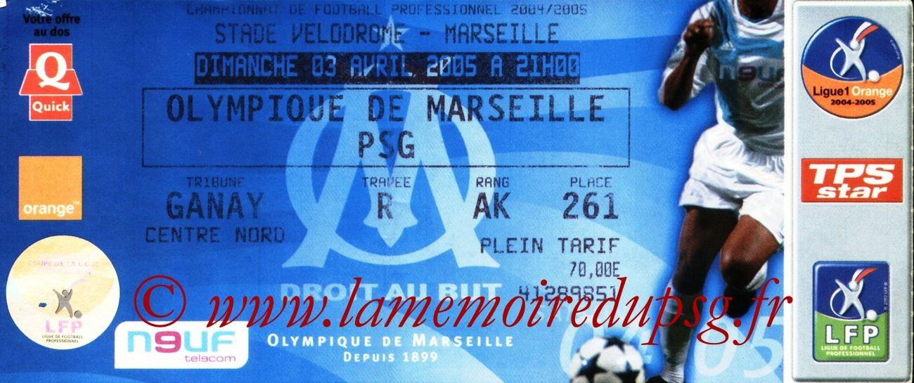 2005-04-03  Marseille-PSG (31ème L1)