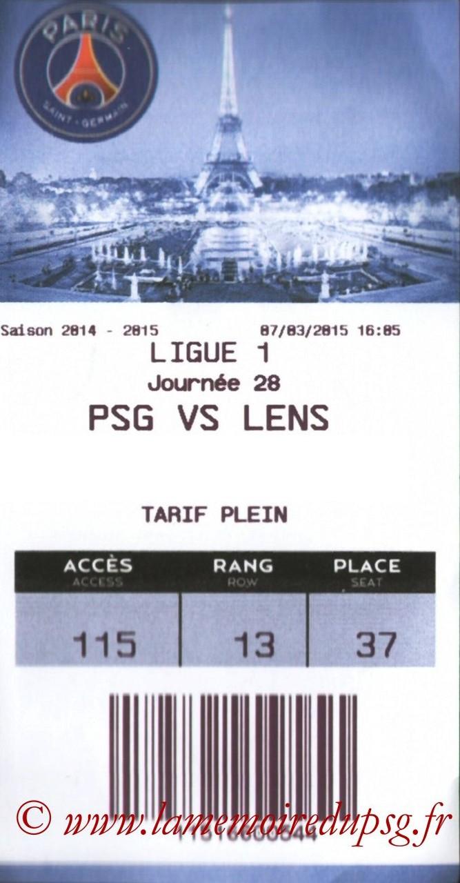 2015-03-07  PSG-Lens (28ème L1, E-ticket)