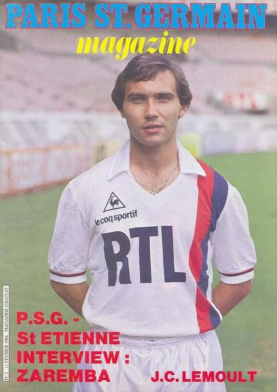 1984-02-11  PSG-Saint Etienne (27ème D1, Paris St Germain Magazine N°2)