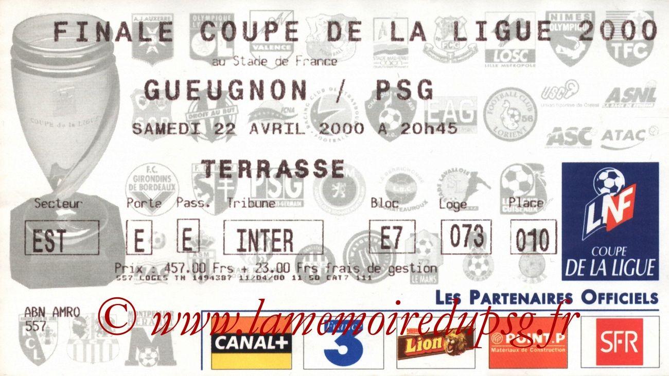 2000-04-22  PSG-Gueugnon (Finale CL à Saint-Denis)