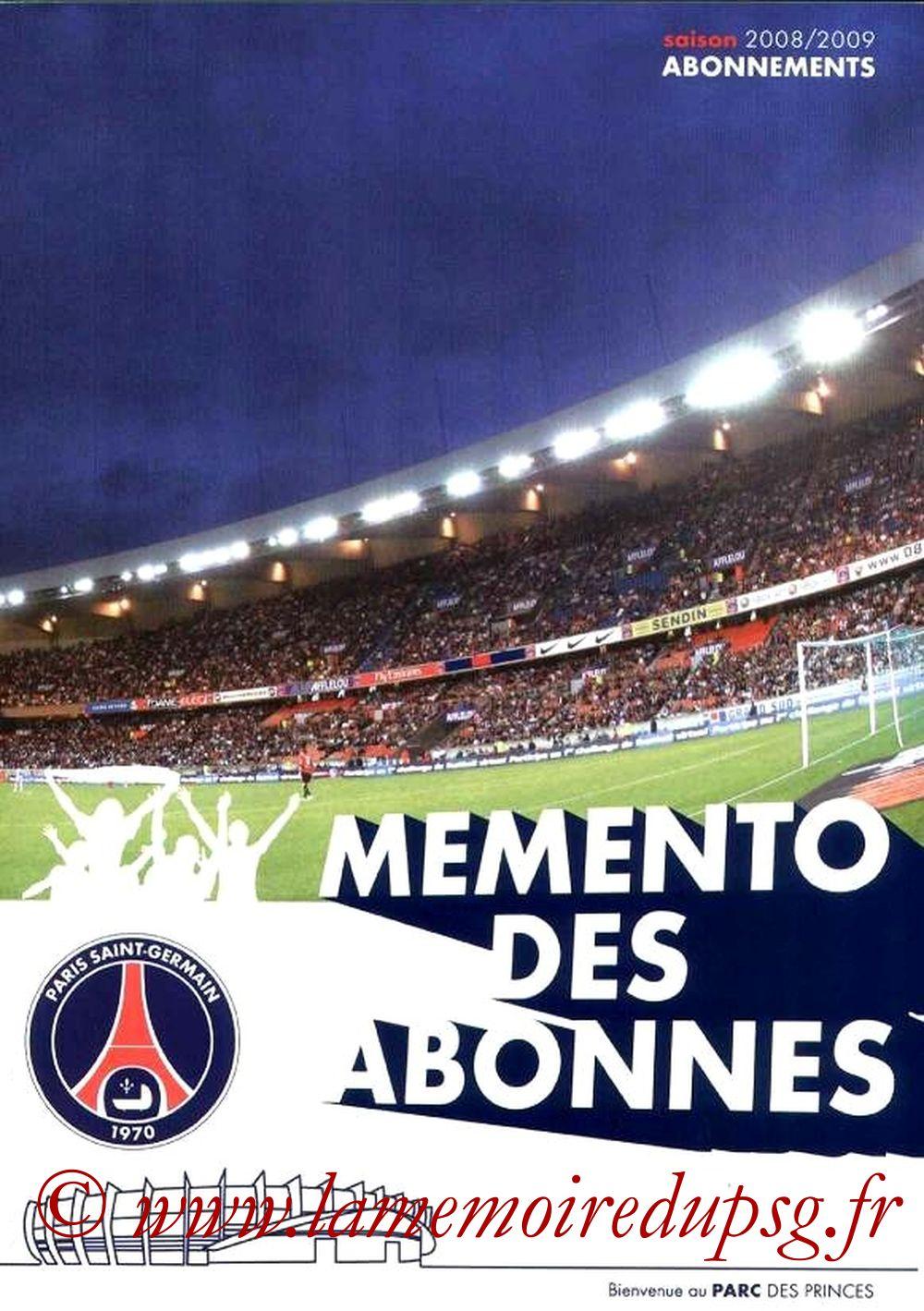 2008-09 - Guide de la Saison PSG