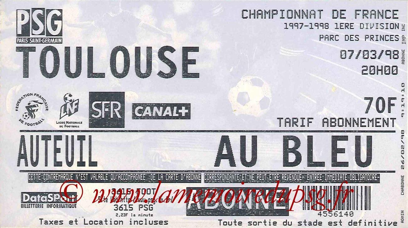 1998-03-07  PSG-Toulouse (28ème D1)