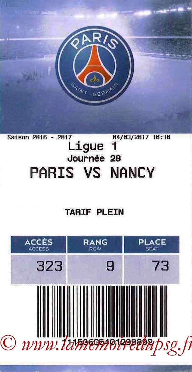 2017-03-04  PSG-Nancy (28ème L1, E-ticket)