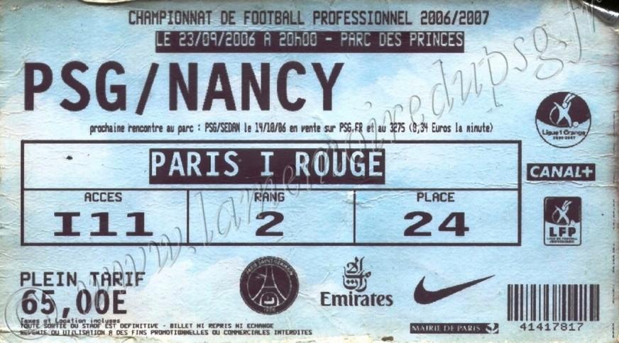 2006-09-23  PSG-Nancy (7ème L1, bis)