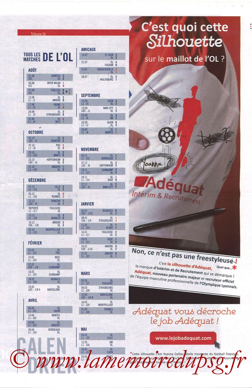 2019-02-03  Lyon-PSG (23ème L1, La Tribune OL N°270) - Page 09
