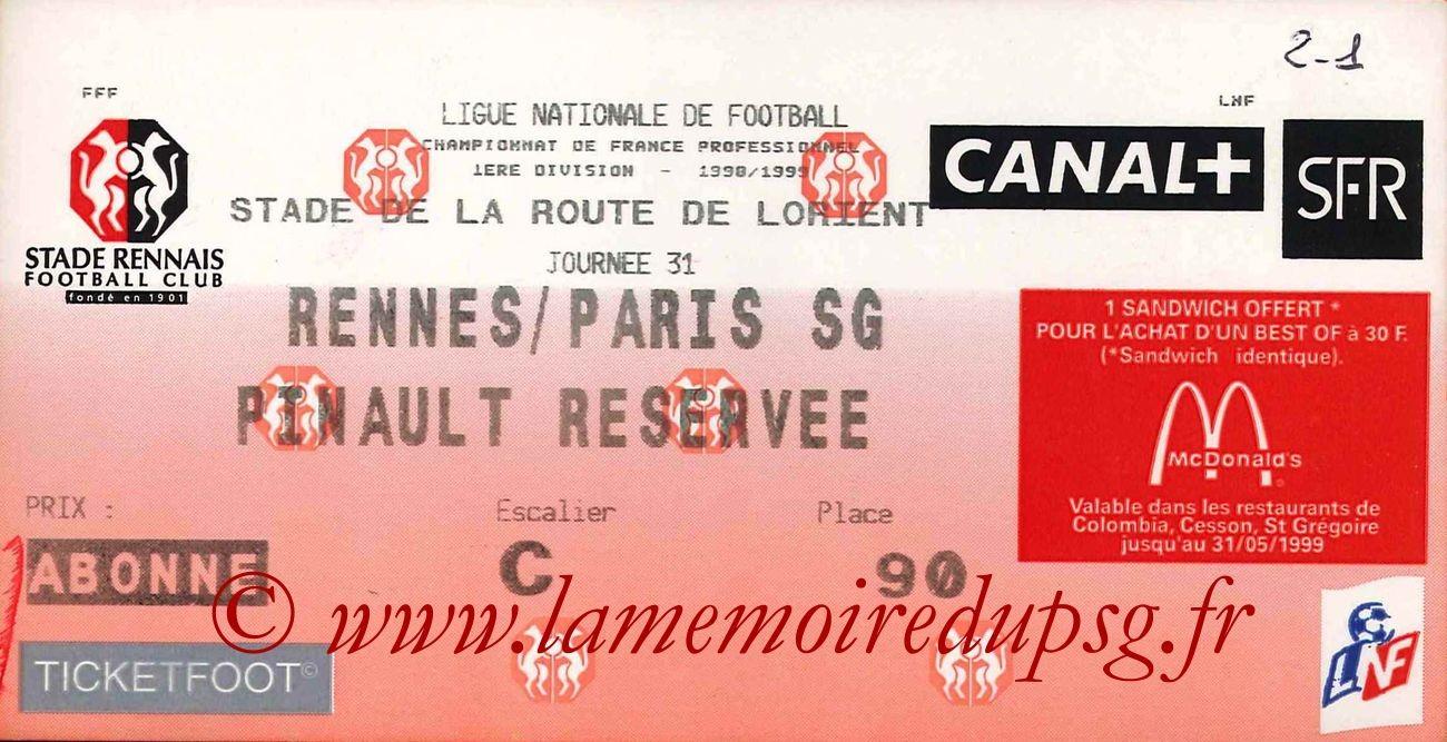 1999-05-01  Rennes-PSG (31ème D1)
