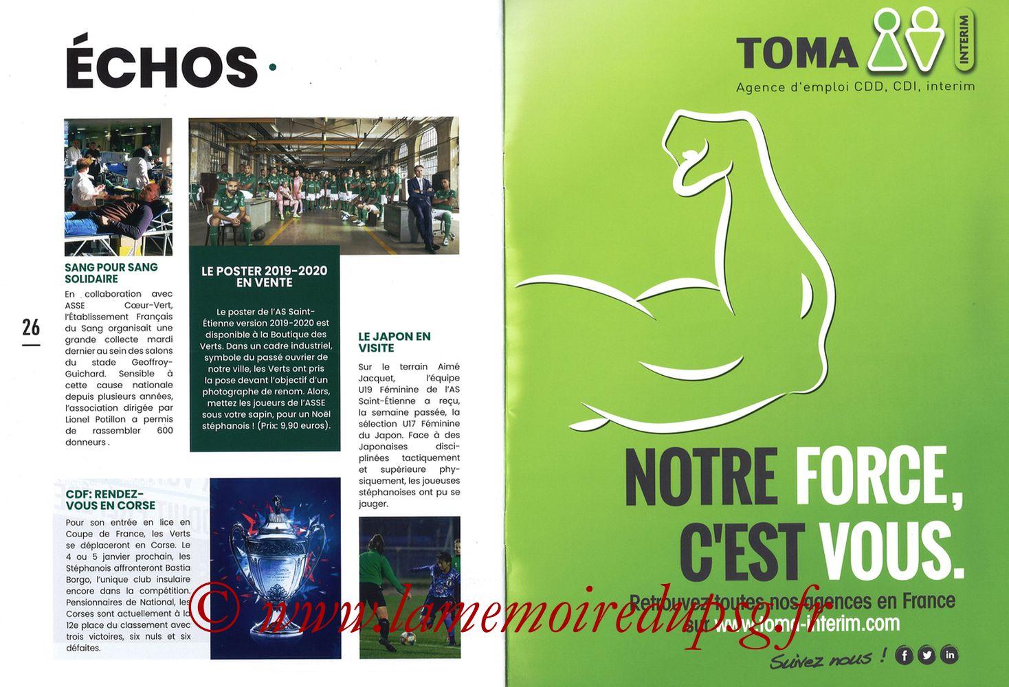 2019-12-15  Saint-Etienne (18ème L1, Maillot Vert N°31) - Pages 26 et 27