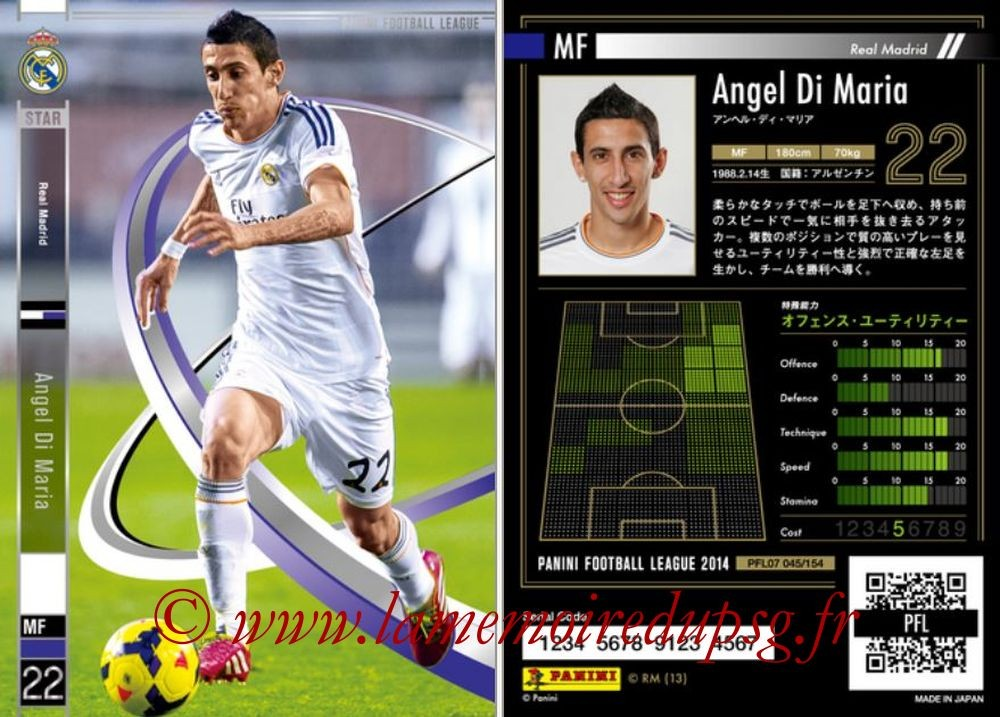 N° 045 - Angel DI MARIA (2013-14, Real Madrid, ESP > PSG, 2015-??) (Star)