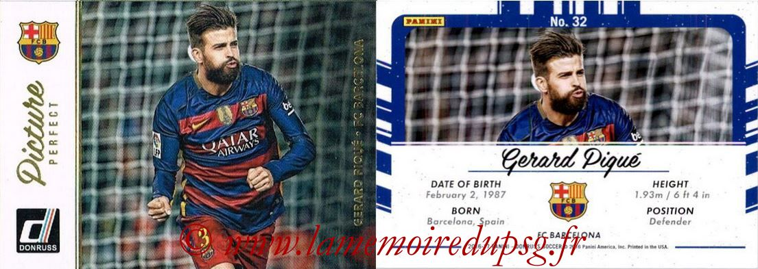 2016 - Panini Donruss Cards - N° PP32 - Gerard PIQUE (FC Barcelone) (Picture Perfect)