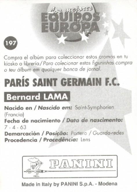 N° 197 - Bernard LAMA (Verso)