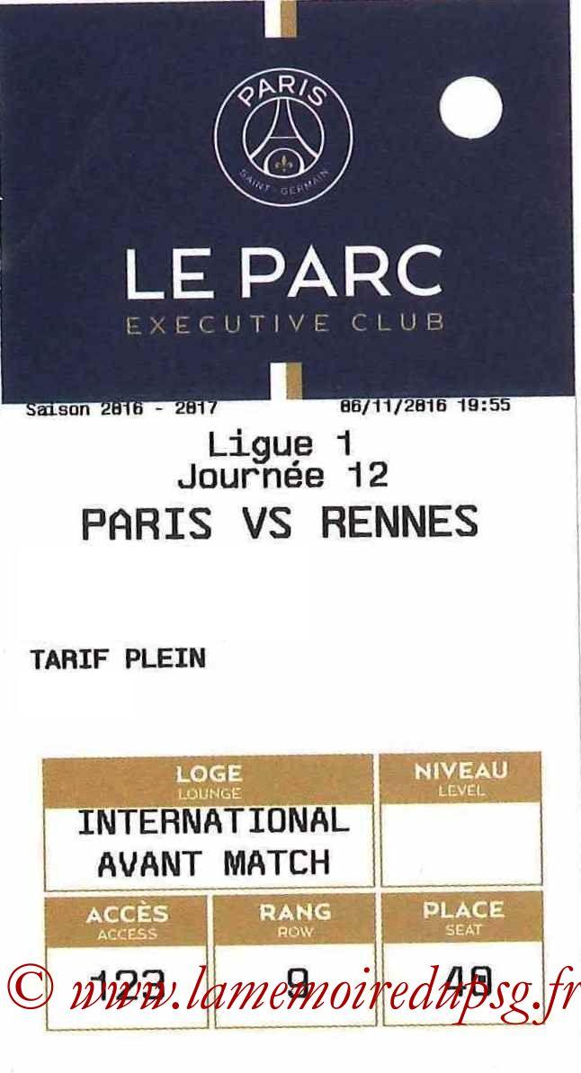 2016-11-06  PSG-Rennes (12ème L1, E-ticket Executive club)