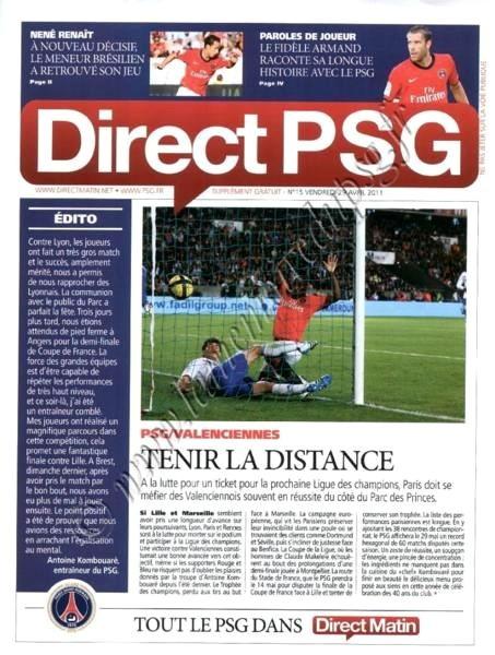 2011-04-30  PSG-Valenciennes (33ème L1, Direct PSG N°15)