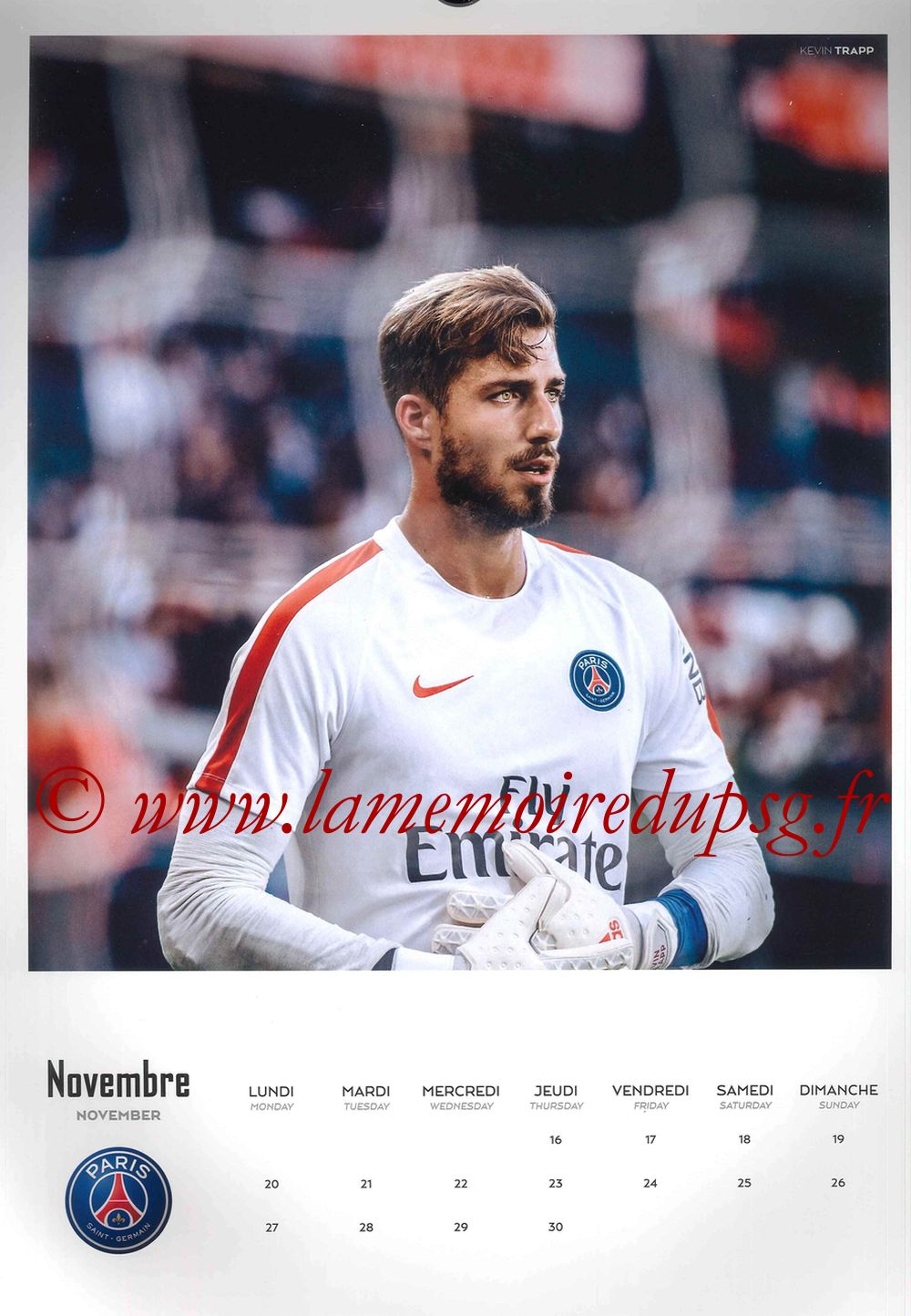 Calendrier PSG 2017 - Page 22 - Kevin TRAPP