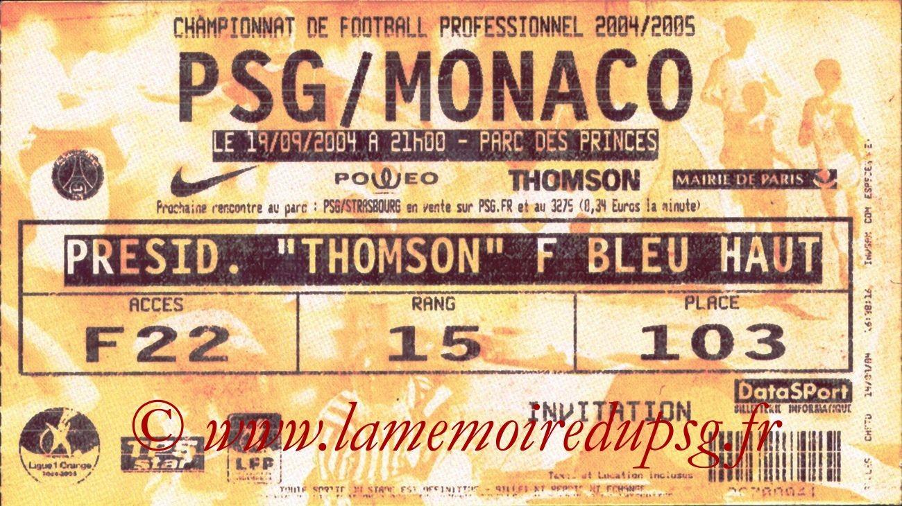 2004-09-19  PSG-Monaco (6ème L1, bis)